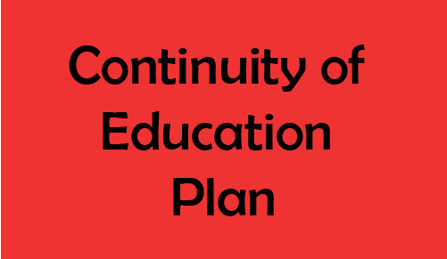 Continuity of Education Plan