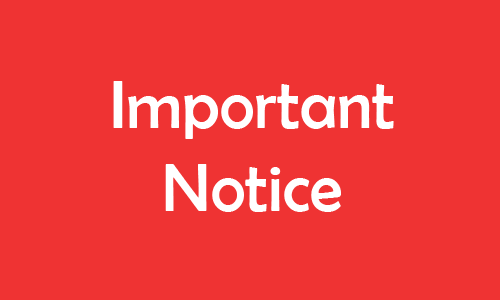 Secondary Students Important Notice